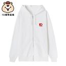 10th記念刺繍ジップパーカー【KMT-299WH】
