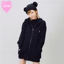 LOVE刺繍ジップパーカー【KMT-271】