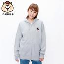 10th記念刺繍ジップパーカー【KMT-299GY】