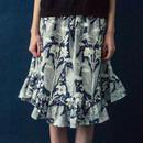 カンナの花のプリントギャザースカート