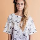 ティーカッププリントグラデーションTシャツ