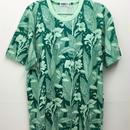 カンナの花のプリントメンズTシャツ (green)