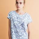 雨模様にウィローパターンのフレンチスリーブTシャツ