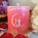 お誕生日プレゼントラインストーン付きキャンドル(ラッピング付き)