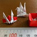 Web限定販売! 銀箔両面和紙折紙 単色 銀/赤 50mm 40枚入