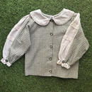 *JurianKinder*khaki check blouse