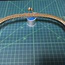 がま口 口金24.5cm ⌒型  蕾ダイヤ 型紙付き