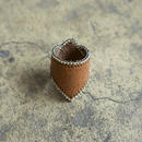 Leather & Beads ring brown vol.1