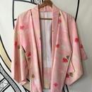 【KIMONO】ヴィンテージ ピンク 着物羽織ガウン