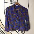 【奇抜】ペイズリー総柄ブルー日本製ダブルシャツジャケット