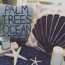 """PALM TREES OCEAN BREEZE""CUSHION"