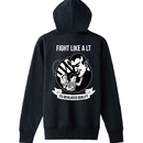 DEVILACCOパーカー「FIGHT LIKE A LT」BK