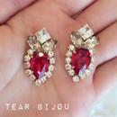 tear bijou♡ピアス イヤリング red