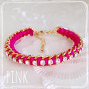 chain bracelet♡Pink