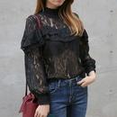 frill vintage lace blouse
