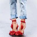 fringe tassel hiheel sandal