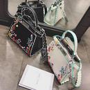 カラフル刺繍パイピングバッグ