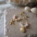 フープピアス pink shell(mini)/ Lagomt