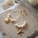 フープピアス pink shell / Lagomt