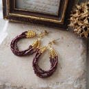ビーズピアス(Jingling)PurpleBrown / Lagomt