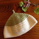 【horo2huroki】とんがりニット帽<size:S>green×white
