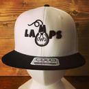 LAMPS スナップバック ホワイト×ブラック