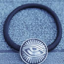 TIME Eyes hair rubber Bracelet(SILVER)