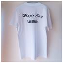 バックプリントTシャツ  ホワイト×ブラック