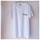 左胸ロゴTシャツ ホワイト×ブラック