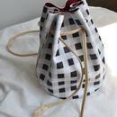 bag2-02369 ギンガムチェック 巾着バッグ