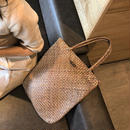 bag2-02214 ラタンかごバッグ ウッドパーツ付きトートバッグ