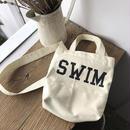 bag2-02366 送料無料! SWIM&POOL ロゴショルダーバッグ ナチュラル ブラック