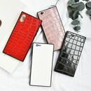 iphone-02474  送料無料!スクエアバンパー クロコダイル柄 iPhoneケース