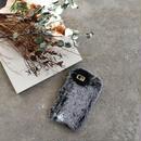 iphone-02516 送料無料! ラビットファー もこもこ グレー iPhoneケース