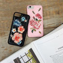 iphone-02301 送料無料! フラワー柄 花柄 刺繍柄 iPhoneケース