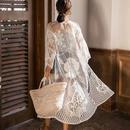gown-02003 ロングレースガウン カバーアップ レディース