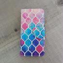iphone-02204 送料無料! 手帳型 モロッカン柄 モザイクタイル モロッコタイル カラフル カード収納付き iPhoneケース