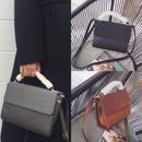 bag2-02114 ボア素材ハンドル スクエアショルダーバッグ