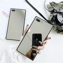 iphone-02475  送料無料!スクエアバンパー シルバーミラー iPhoneケース