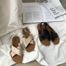 shoes-02021  バックベルト クロスフラットサンダル
