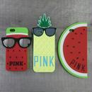 iphone-02071 送料無料! PINK パイナップル・スイカ・サングラス  iPhoneケース