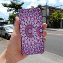 iphone-02133 送料無料! 手帳型 エスニック柄グラデーション ピンク カード収納付き iPhoneケース