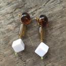 earrings-02069 タイプ69 ハンドメイド 日本製 ボリュームパーツイヤリング ☆WA04