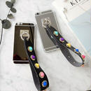 iphone-02315 送料無料! コーンスタッズ付きストラップ メタリック iPhoneケース