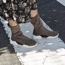 shoes-02034  ブラウンスエード ソックススニーカー