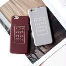 iphone-02017 送料無料! YOU LOOK SO COOL マット ボルドー グレー  iPhoneケース