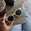 sunglasses-02031 マット薄ベージュフレーム サングラス