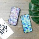 iphone-02268 ブラックバンパー モロッカン柄 モロッコ柄 モザイクタイル モロッコタイル iPhoneケース