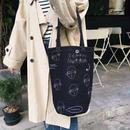 bag2-02307 送料無料! 人物アート バケツ型トートバッグ エコバッグ
