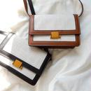 bag2-02299 キャンバス×フェイクレザー ショルダーバッグ